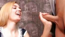 Blonde marvelous fiance is going crazed with teacher's immense stick