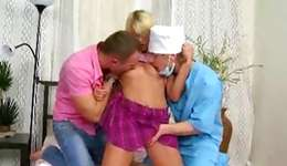 Sexually unusual 2 guys 1 beauty with a vibrating hoe gratifying two sticks rapidly