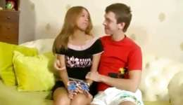 Hot teen girfriend is riding a boner getting anal hole drilled coarse inside