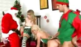 Two kinky elf cuties riding tremendous dicks and blowing 'em deep