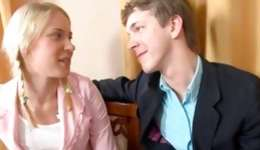 Blond sexy swot doxy teaching this dirty guy is immediately fucked by him